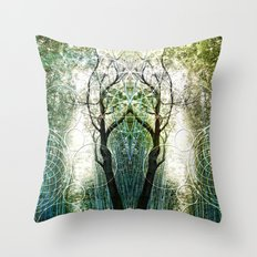 Bamboo Forest Geometry Throw Pillow