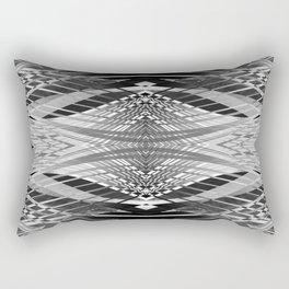 PRETTY BLACK & WHITE LINE PATTERN II Rectangular Pillow