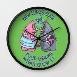New Lungs Wall Clock