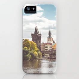 Vltava River in Sunny Prague iPhone Case