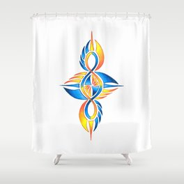 Twisted Tribal Infinity Elemental Shower Curtain