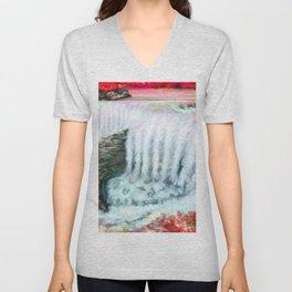 Ruby waterfall Unisex V-Neck