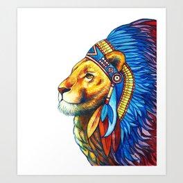 The Lion Chief Art Print