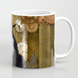 Funny cat with steampunk hat Coffee Mug