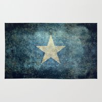 islam Area & Throw Rugs featuring Somalian national flag - Vintage version by Bruce Stanfield