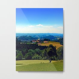 Panoramic view into a summertime scenery Metal Print
