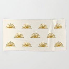 Sol in Natural Beach Towel