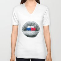pills V-neck T-shirts featuring Love Pills  by Giorgio Arcuri