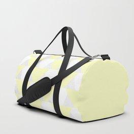 Yellow White Marble Triangles Duffle Bag