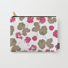 seamless   pattern of geranium flowers . Endless texture Carry-All Pouch
