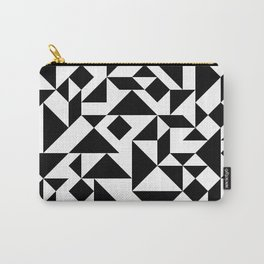 Tangram Composition in Black and White Carry-All Pouch
