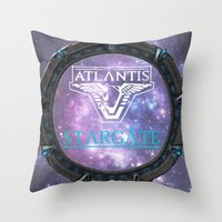 stargate Throw Pillows featuring Pegasus gate by Samy