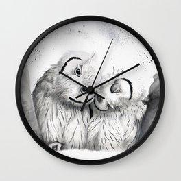 Sweet owls Wall Clock
