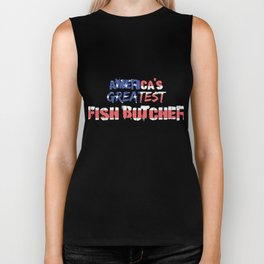 America's Greatest Fish Butcher Biker Tank