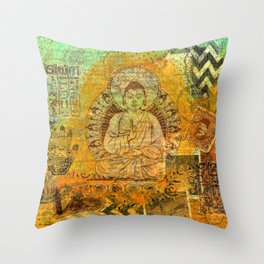 Floating Buddha Throw Pillow
