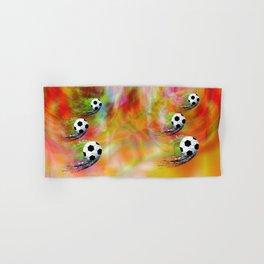 Football soccer sports graphic design Hand & Bath Towel