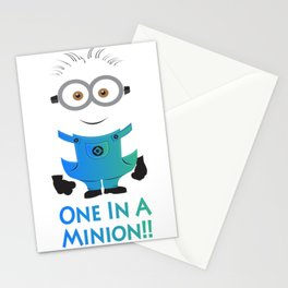 one in a minion Stationery Cards