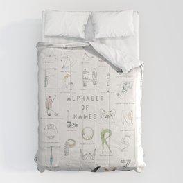Alphabet of names Comforters