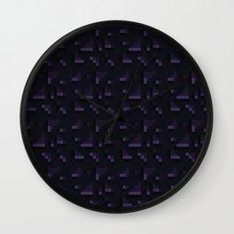 Obsidian Blocks Wall Clock