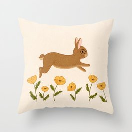 golden leap Throw Pillow