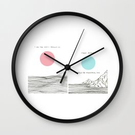 I am The Sea I Drown in Wall Clock