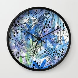 Many flowers Wall Clock