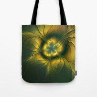 golden Tote Bags featuring Golden by gabiw Art