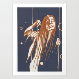 Butoh Hag Art Print