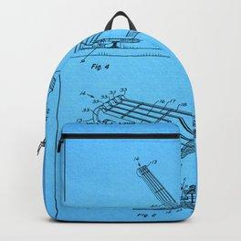 Guitar Patent - aquamarine Backpack
