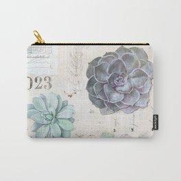 Echeveria Succulent Carry-All Pouch
