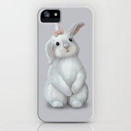 White Rabbit Girl iPhone Case