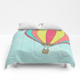 IT'S TIME TO EXPLORE- HOT AIR BALLOON Comforters