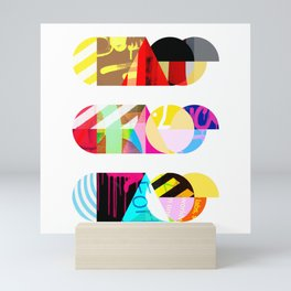 Chaos, Chaos, Chaos [collage] Mini Art Print