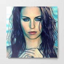 Alicia Endemann - Celebrity Art Metal Print
