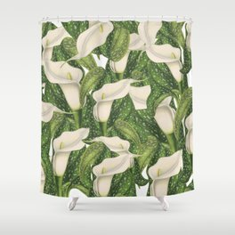 Calla lily flower pattern Shower Curtain