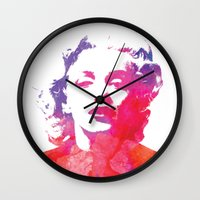 marilyn Wall Clocks featuring Marilyn by Fimbis