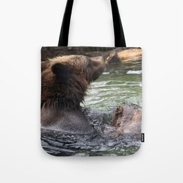 A Great Day to Play in the Water with a LOG Tote Bag
