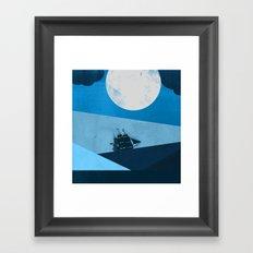 Solo Ocean Trip Framed Art Print