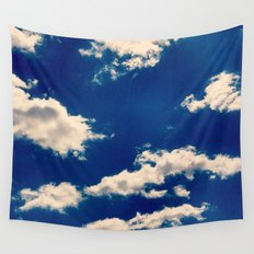 Blue and White Wall Tapestry