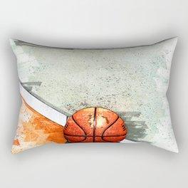 Basketball On Court  Minimal - For Basketball Lovers Rectangular Pillow