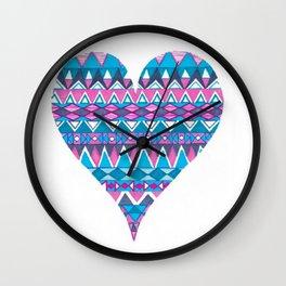 Tribal Heart Wall Clock
