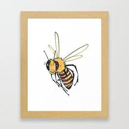 Happy Bee 2 Framed Art Print