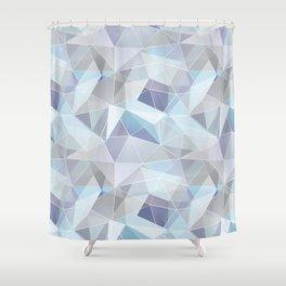 Broken glass in blue. Shower Curtain