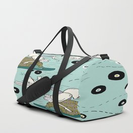 tortoise and the hare skater style Duffle Bag