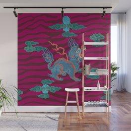 Foo Dragon on Magenta Wall Mural