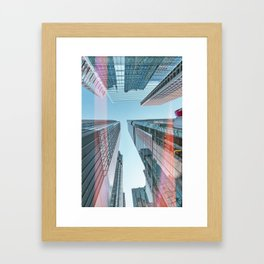 Hongkong skyscraper 3 Framed Art Print
