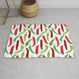 New Mexico Christmas Hatch Chiles in White Rug