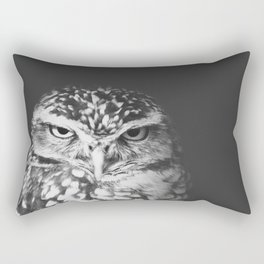 grumpy owl Rectangular Pillow