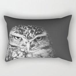 grumpy owl Rectangular Pillow