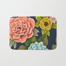 Floral design- Botanical Art - Flower Pattern Bath Mat